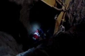فیلم/ لحظه ریزش چاه و شهادت دو امدادگر هلال احمر