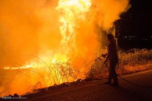 پسر مزاحم ماشین شوهر زن مورد علاقهاش را آتش زد