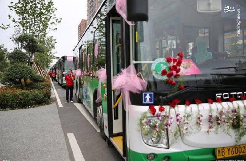 عکس ماشین عروس جدید زیباترین ماشین عروس تزئین ماشین عروس اخبار چین