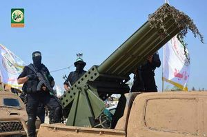 رژه گردانهای عزالدین قسام در غزه