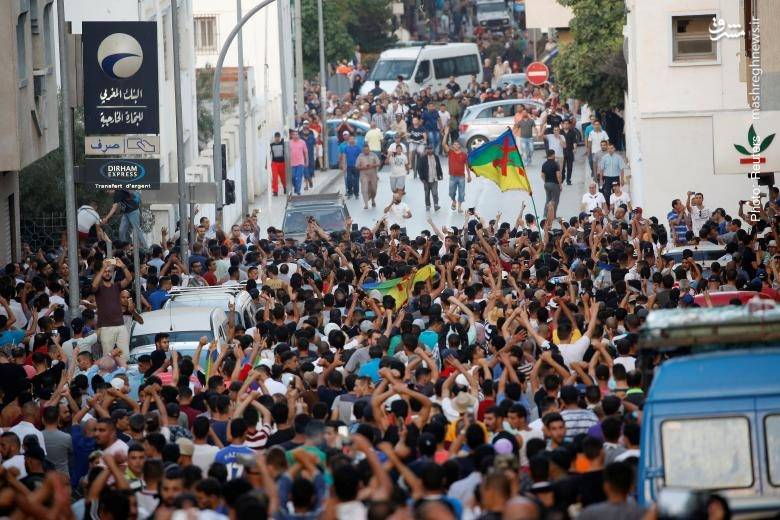 تظاهرات در حسیمه مراکش در اعتراض به سوءاستفاده سیاسی و اقتصادی از قدرت