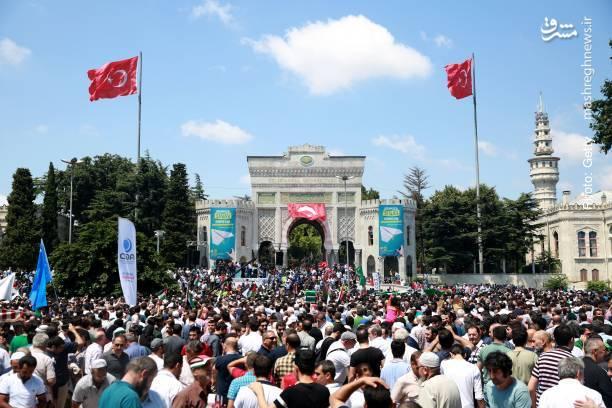 تظاهرات ضدصهیونیستی همزمان با «روز خشم» در استانبول