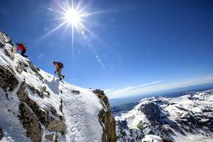 عکس/ استراحتگاه معلق کوهنوردان در ارتفاعات کوه