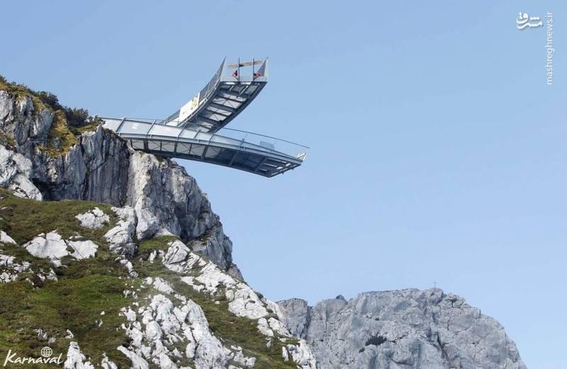 ۱- کوه آلپسپیتز   آلمان  کوه  آلپسپیتز (Alpspitze) در ایالت بایرن آلمان قرار دارد و سکوی ساخته شده در آن ۹۷۵.۳۶ متر از سطح زمین ارتفاع دارد.