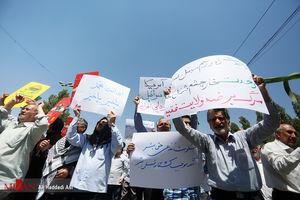 عکس/ راهپیمایی نمازگزاران علیه جنایات در میانمار و فلسطین