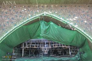 عکس/کاشی کاری در حرم حضرت عباس(ع)