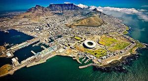 عکس/ نمایی هوایی از شهر کیپتاون در آفریقای جنوبی