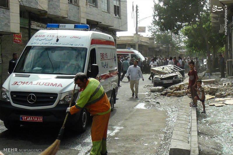 انفجار گاز در زنجان