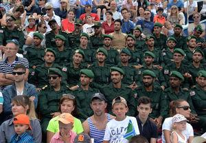 عکس/ تفنگداران سپاه،میهمانان ویژه جشن روز نیروی دریایی روسیه