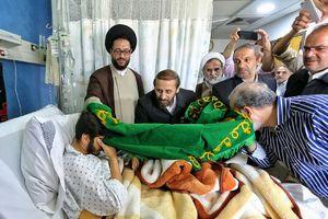 عیادت خدام حرم رضوی از مجروحان جنگی در لبنان+عکس