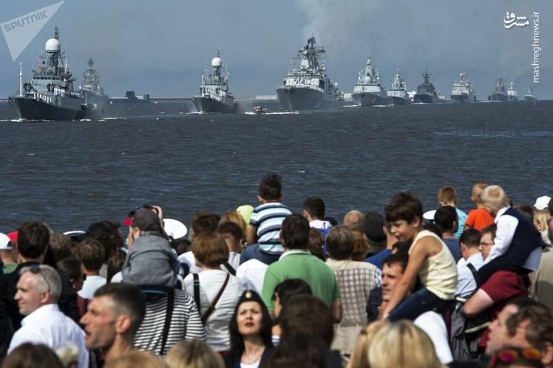 جشن روز نیروی دریایی در روسیه