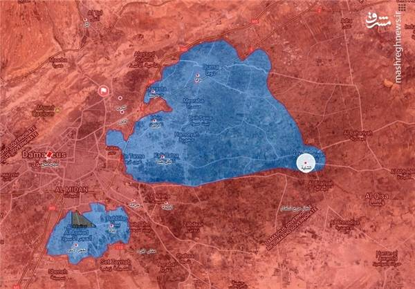 کاروان امدادی سازمان ملل در راه شهر النشابیه
