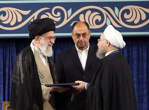 فیلم/ تنفیذ حکم ریاست جمهوری روحانی توسط رهبر انقلاب
