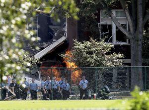 عکس/ انفجار گاز در یک مدرسه آمریکایی