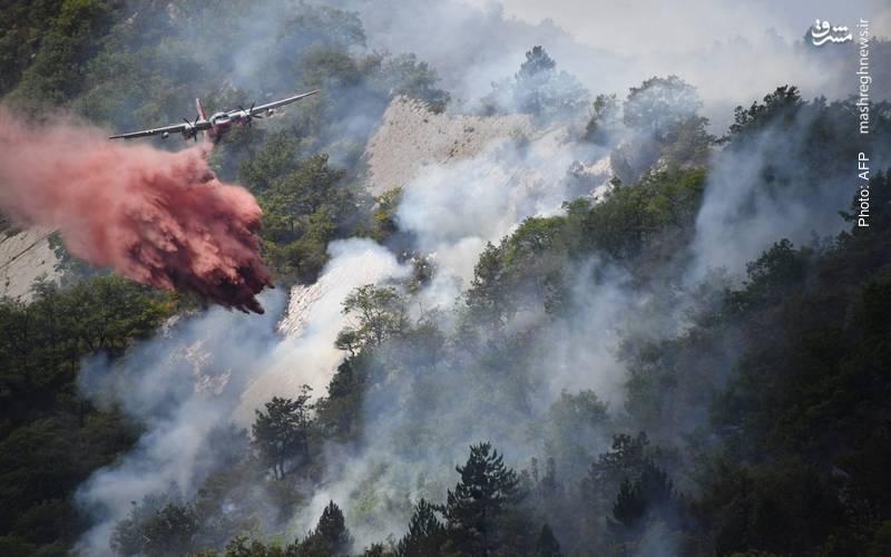 تداوم آتشسوزی در جنوب شرق فرانسه