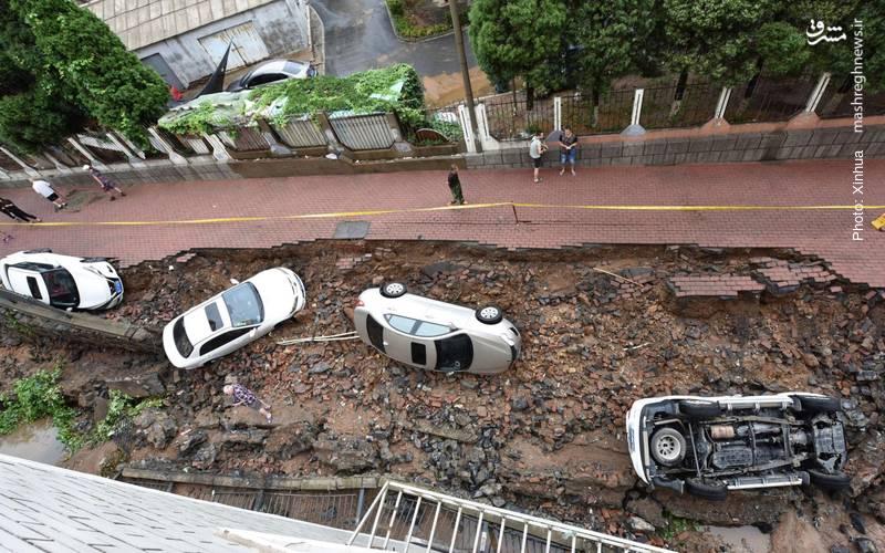 صدمات باران سنگین در دالیان چین