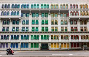 عکس/ پنجرههای رنگارنگ در سنگاپور