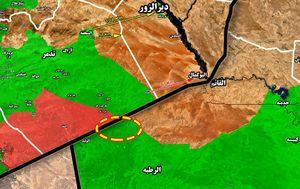 نقشه مرز عراق و سوریه