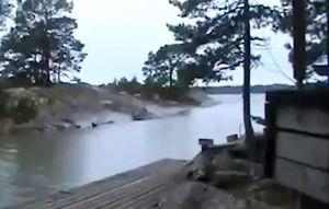فیلم/ برخورد صاعقه با رودخانه