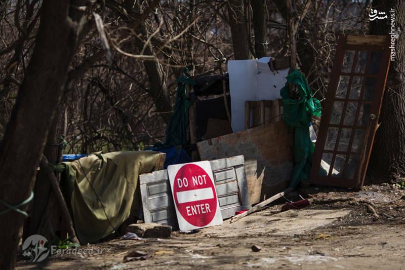 """آلونک های غیرقانونی معتادان در """"کنسینگتون"""""""