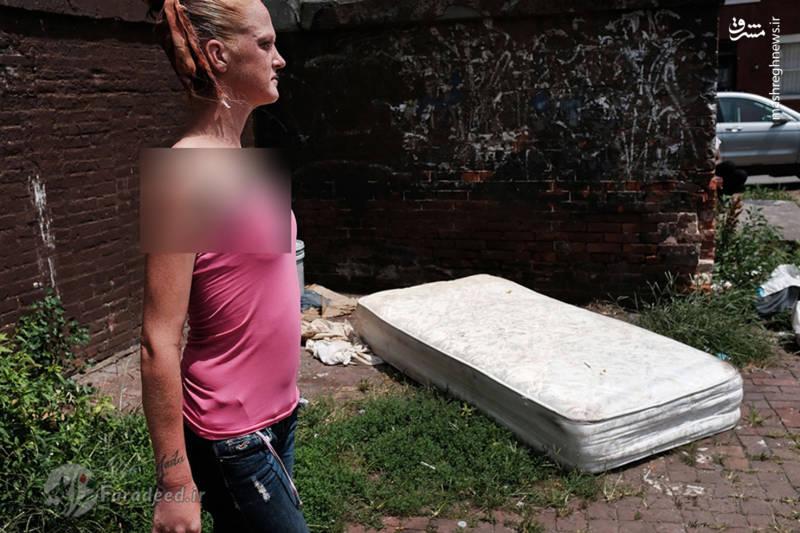 """""""امی"""" یک معتاد بی سرپناه که 6 سال است به هروئین اعتیاد دارد در """"کنسینگتون"""""""