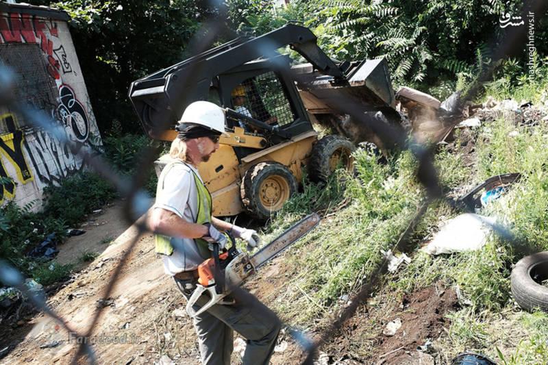 """ماموران شهرداری در جولای امسال عملیات پاکسازی """"کنسینگتون"""" را آغاز می کنند."""