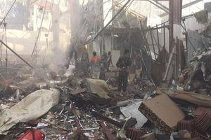 بمباران یک مدرسه توسط سعودیها در یمن