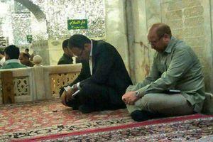 حضور محمدباقر قالیباف در حرم مطهر رضوی  صبح امروز