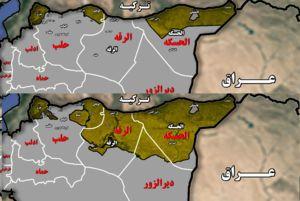 نقشه کردستان سوریه