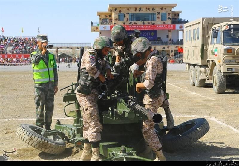 رقابت تیمهای ارتش و سپاه با حریفان در مسابقات نظامی ۲۰۱۷
