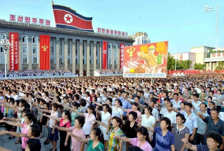 تظاهرات حمایتآمیز مردم پیونگیانگ پس از انتشار بیانیهها و سخنرانیهای اخیر کیم جونگ اون