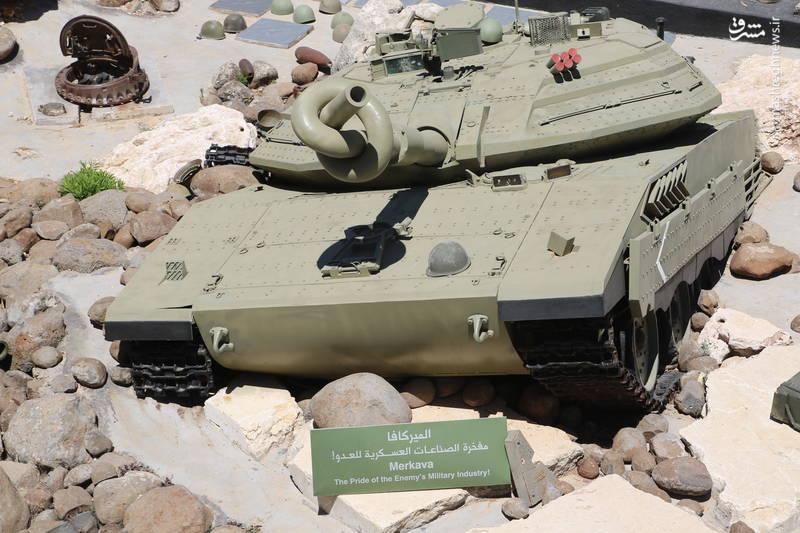 طرحی از تانک «مرکاوا» در بخش «هاویه» از موزه جهادی «ملیتا» در جنوب لبنان