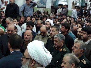 حضور سردار جعفری در مراسم بزرگداست شهید محسن حججی