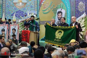حضور خادمین حرم رضوی در بزرگداشت شهید حججی