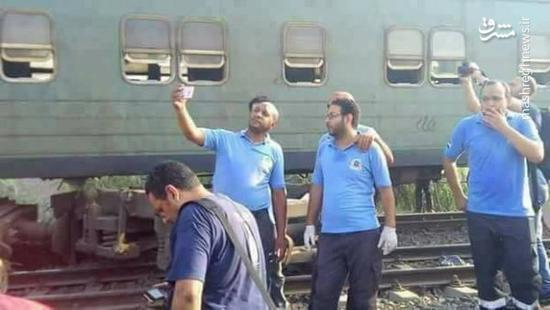 جنجال سلفی گیری در صحنه حادثه قطار +عکس