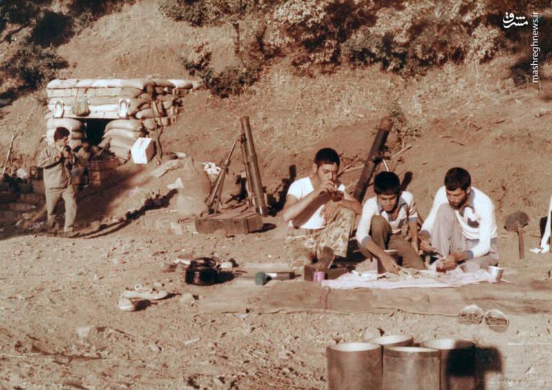 سردار شهید «محسن نورانی»(نفر اول از چپ)
