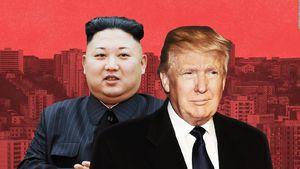کیم جونگ اون رهبر کره شمالی و ترامپ