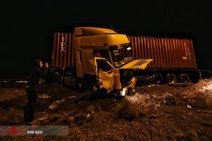 مرگ 5 سرنشین پراید زیر چرخ کامیون +عکس