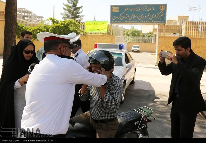 عکس/ کار پسندیده پلیس کرمان