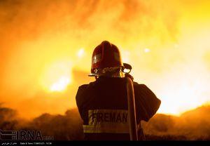 آتشسوزی گسترده ۲ انبار کالا در خیابان فدائیان اسلام +عکس و فیلم