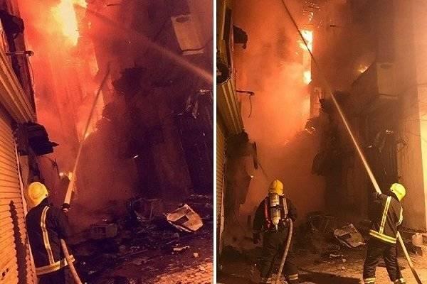 آتش سوزی مهیب در جده عربستان +عکس