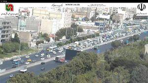ترافیک در آزادراه قزوین-تهران