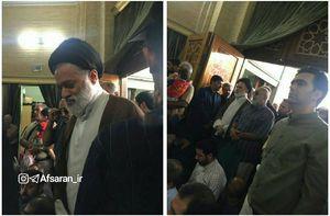 عکس/ حضور فرزند ارشد رهبر انقلاب در مراسم شهید حججی