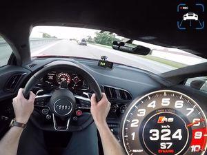 فیلم/ رانندگی با سرعت 324 کیلومتر در ساعت