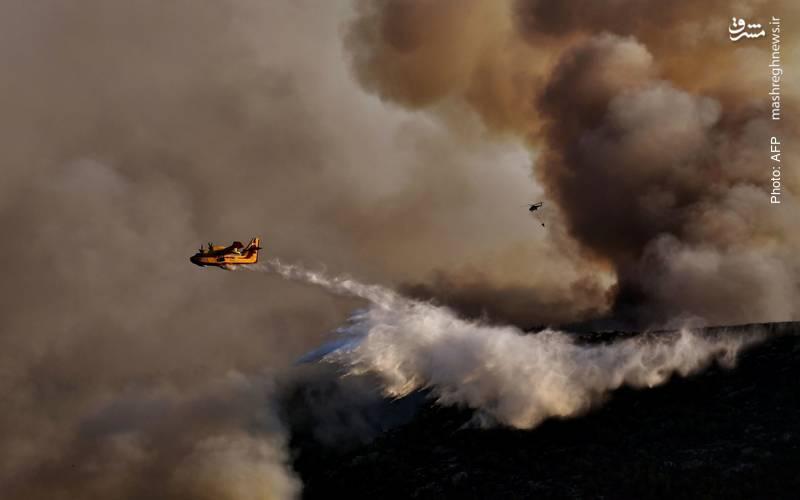 تداوم چندروزه آتشسوزی در 146 نقطه از یونان