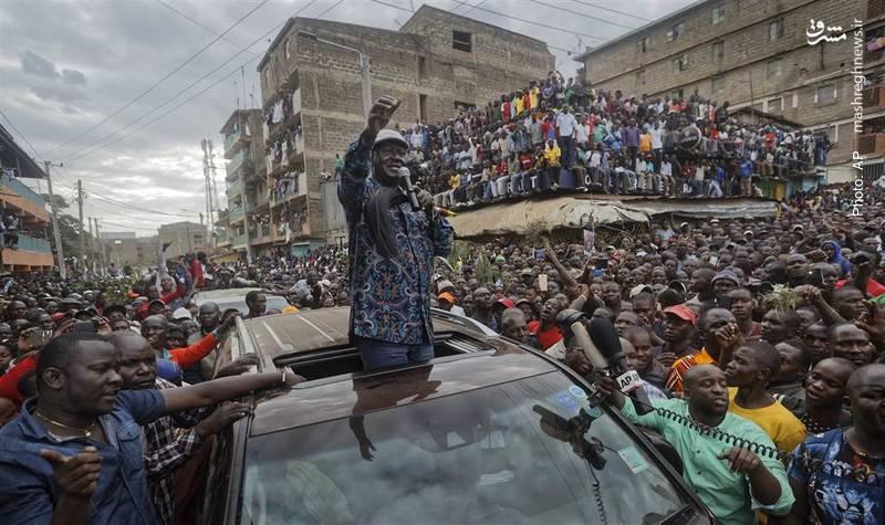 سخنرانی اودینگا، نامزد منتقد دولت در جمع معترضان به نتیجه انتخابات در نایروبی