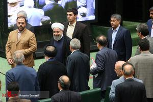 عکس/ حضور روحانی در جلسه رای اعتماد