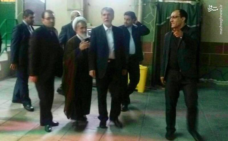وزیر ارشاد در مسجد میرزا عیسی