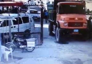فیلم/ فرورفتن زمین در پارکینگ حرم حضرت معصومه(س)