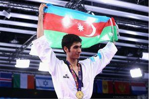 مدال طلای تکواندوکار ایرانی الاصل تیم ملی آذربایجان در یونیورسیاد